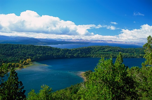 Stock Photo: 4286-76619 Overview of lake district in Patagonia  around Bariloche in Southern Argentina