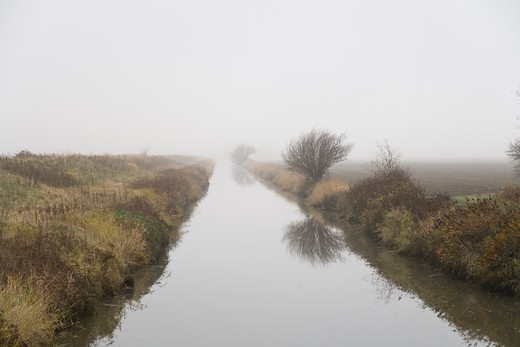 Stock Photo: 4286-77728 Mist surrounding a water canal