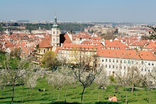 Stock Photo: 4286-77973 CZECH REPUBLIC PRAGUE. PETRIN HILL IN SPRING.