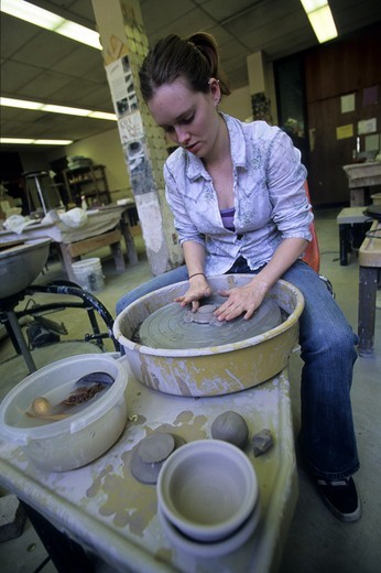 Stock Photo: 4286-78995 Jessette Meyers, College Ceramics, Earlham College, Richmond, IN