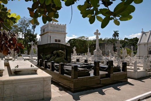 Cuba. Havana. Columbus' Cementery, the most valuable necropolis of America because of the richness of its sculptures and architectural forms. : Stock Photo