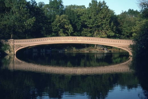 Stock Photo: 4286-79171 The Bow Bridge in New York?s Central Park