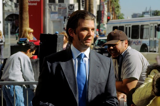 Donald Trump junior at Walk of Fame ceremony in Hollywood, California, for his father, real estate mogul of same name, January 19, 2007 : Stock Photo