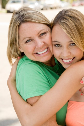 Stock Photo: 4286-83171 Women smiling, portrait, close up