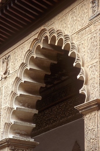 Stock Photo: 4286-84201 Arch at the Alcazar in Sevilla, Spain