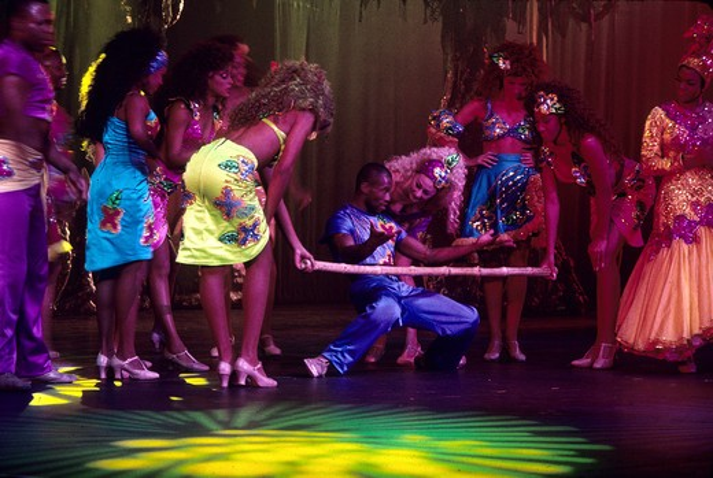 Limbo dance show, Atlantis Resort, Paradise Island, Nassau, Bahamas : Stock Photo