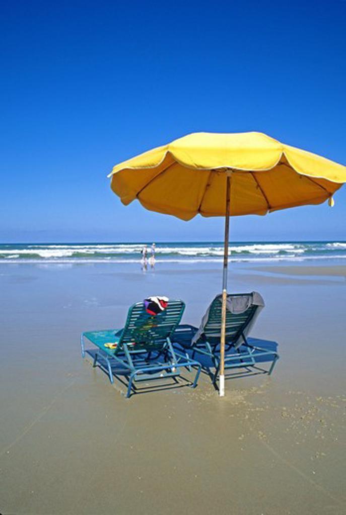 Stock Photo: 4286-84464 Umbrella Dayton Beach Florida