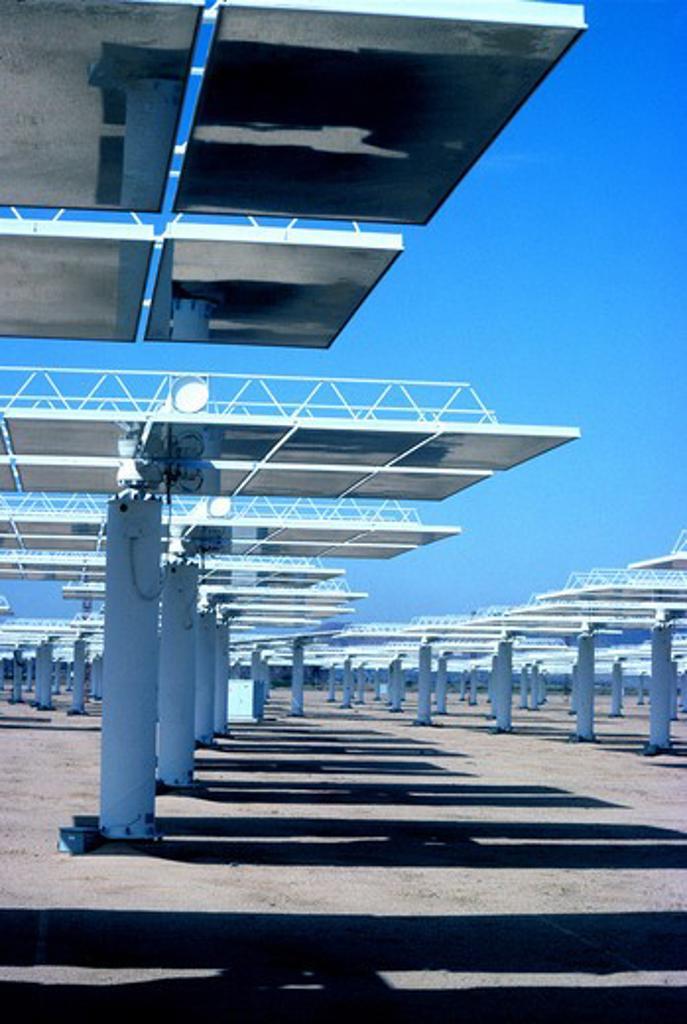 Stock Photo: 4286-84583 Solar One, Barstow California