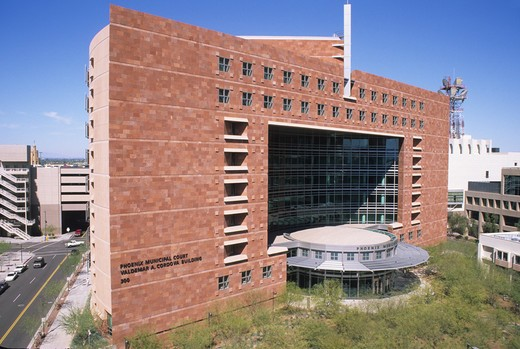 Stock Photo: 4286-84764 Municipal Court building Phoenix Arizona