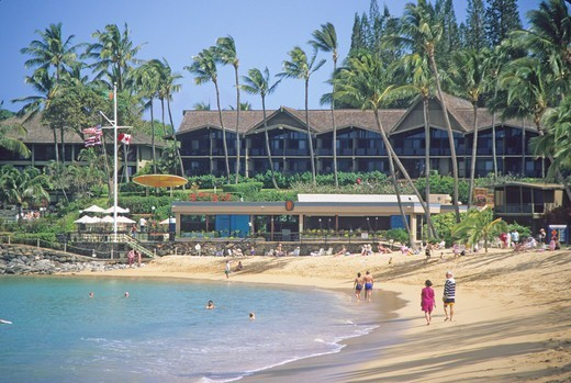 Stock Photo: 4286-84948 Napili Beach Resort Maui Hawaii