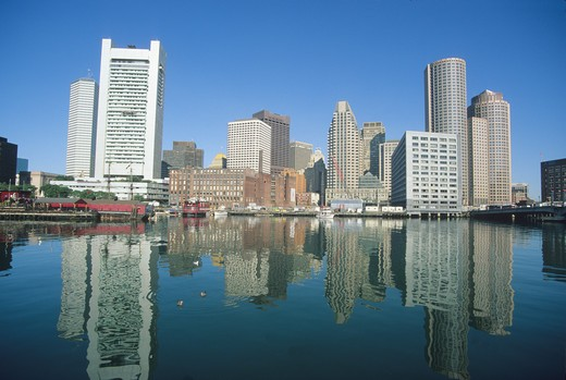 Stock Photo: 4286-84985 Boston Massachusetts waterfront
