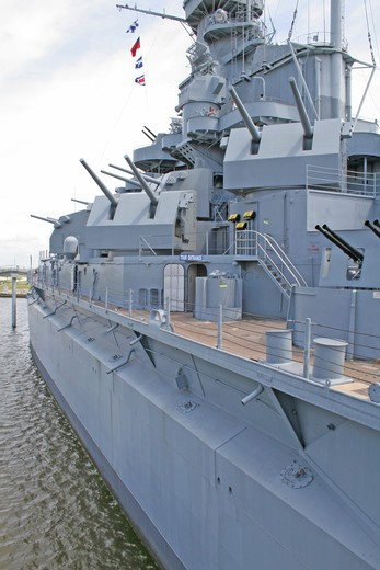 Stock Photo: 4286-85316 USS Alabama Battleship Memorial Park Mobile Alabama