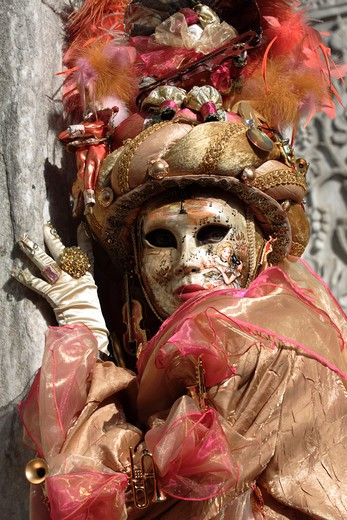 Stock Photo: 4286-86123 Traditional mask at the Venetian Carnival 2007, Venice, Italy