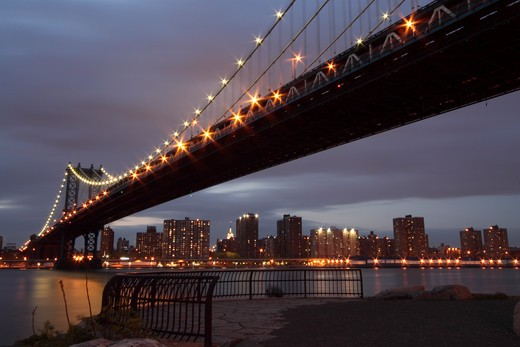 Manhattan bridge, New York City, USA : Stock Photo