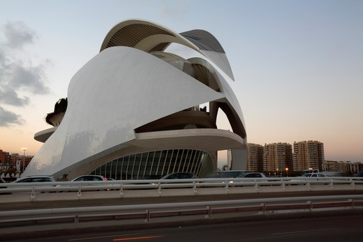 The Palau de las Arts, City of Arts and Sciences, Valencia, Spain : Stock Photo