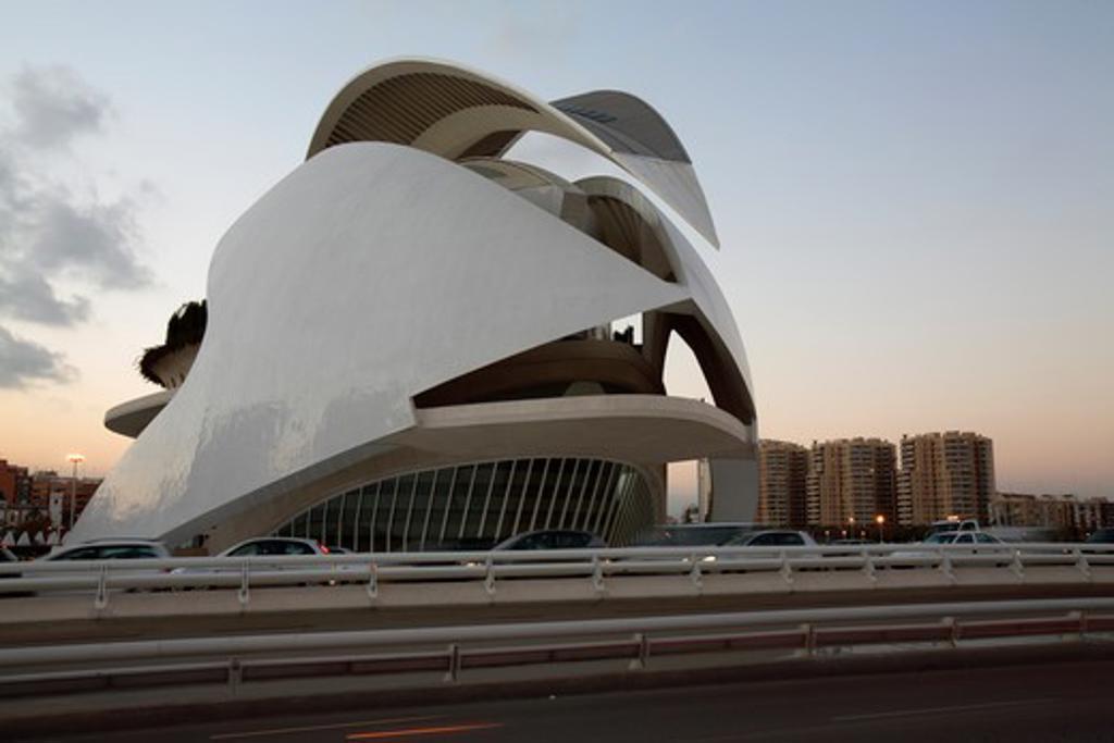 Stock Photo: 4286-86366 The Palau de las Arts, City of Arts and Sciences, Valencia, Spain