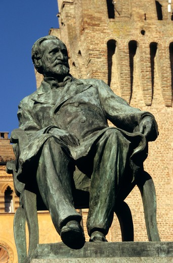 Stock Photo: 4286-86470 Statue of Giuseppe Verdi, Busseto, Italy