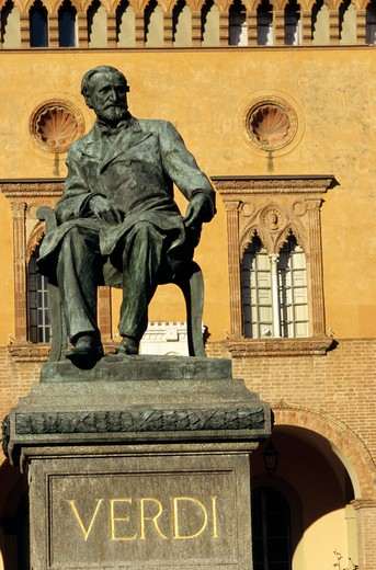 Stock Photo: 4286-86471 Statue of Giuseppe Verdi, Busseto, Italy