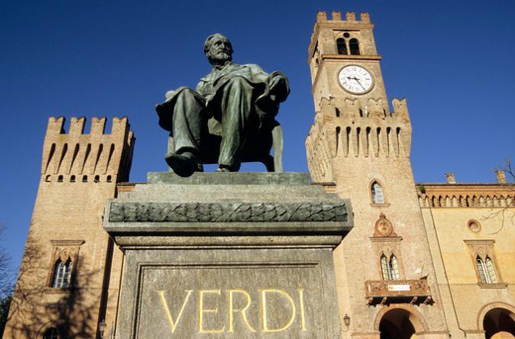 Stock Photo: 4286-86472 Statue of Giuseppe Verdi, Busseto, Italy