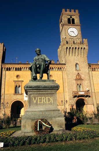 Stock Photo: 4286-86473 Statue of Giuseppe Verdi, Busseto, Italy
