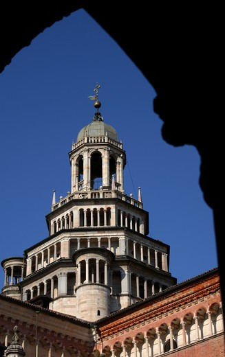 Stock Photo: 4286-86481 The gothic bell tower of the Certosa di Pavia, Pavia, Italy