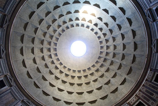 Interior of the Pantheon's dome, Rome, Italy : Stock Photo