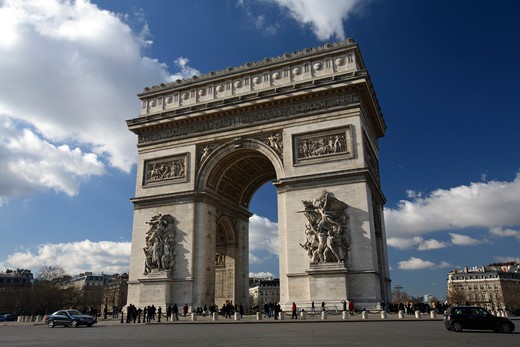 Stock Photo: 4286-86516 Arc De Triomphe in Place Charles de Gaulle, Paris, France