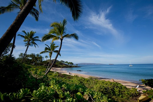 Maluaka Beach, Makena, Maui, Hawaii : Stock Photo