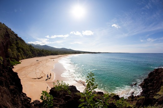 Stock Photo: 4286-87299 Makena Beach, Oneloa, Big Beach, Maui, Hawaii