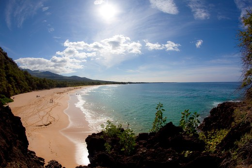 Makena Beach, Oneloa, Big Beach, Maui, Hawaii : Stock Photo