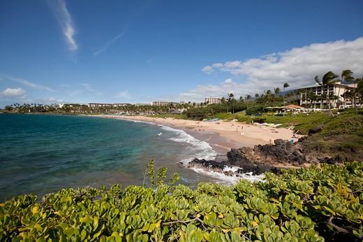 Stock Photo: 4286-87339 Wailea Beach, Maui, Hawaii