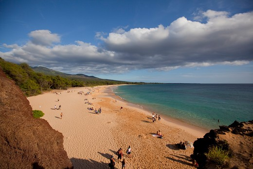 Stock Photo: 4286-87345 Makena Beach, Oneloa, Big Beach, Maui, Hawaii