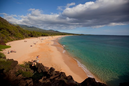 Stock Photo: 4286-87346 Makena Beach, Oneloa, Big Beach, Maui, Hawaii