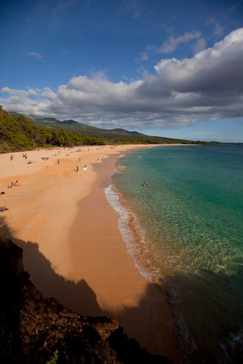 Stock Photo: 4286-87347 Makena Beach, Oneloa, Big Beach, Maui, Hawaii