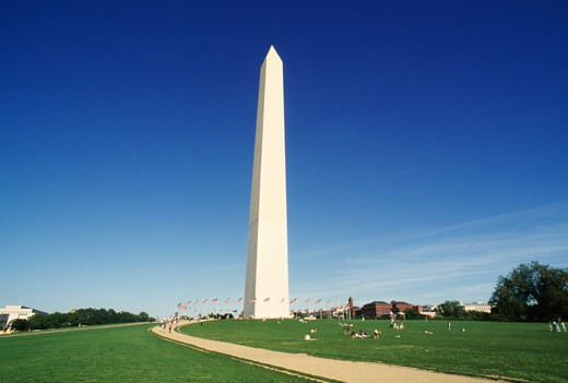 Stock Photo: 4286-87693 Washington Monument, Capitol Building, Washington D.C.