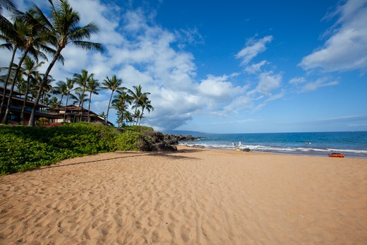 Stock Photo: 4286-88095 Po'olenelena Beach, Makena, Wailea, Maui, Hawaii