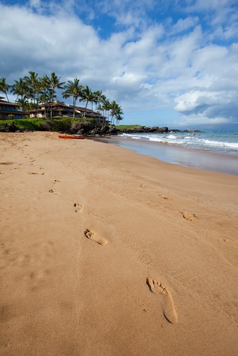 Stock Photo: 4286-88097 Po'olenalena Beach, Makena, Wailea, Maui, Hawaii