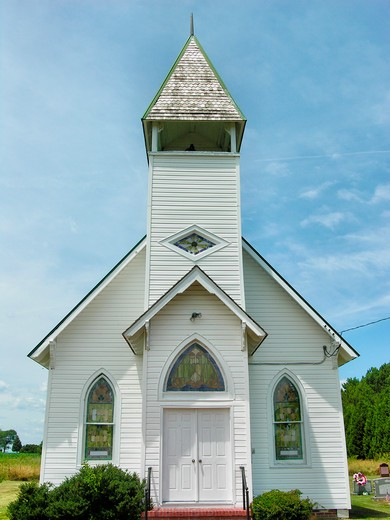 Country church in Tilghman Island, MD : Stock Photo