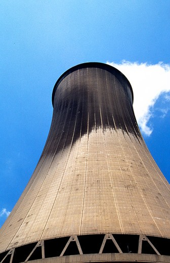 Energy. Nuclear cooling tower. S. France. : Stock Photo