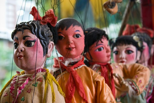 Stock Photo: 4286-90565 Chinese style Dan Young Lady marionettes in Jinshow Zhuang puppet store and museum, Quanzhou, Fujian Province, China