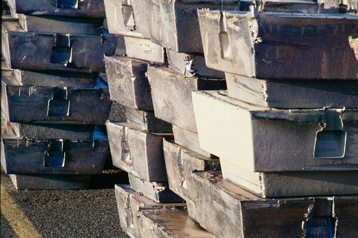 Lead Ingots  - : Stock Photo