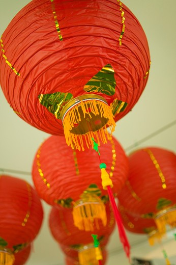 Stock Photo: 4286R-11023 Lanterns. Taiwanese Cultural exhibit Vancouver Children's Festival..  -