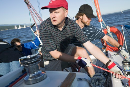 Stock Photo: 4286R-12602 Friends Out Sailing