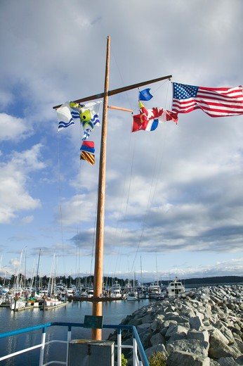 Flags Sidney British Columbia Canada : Stock Photo