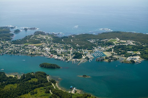 Aerial View Ucluelet West Coast Vancouver Island British Columbia Canada : Stock Photo