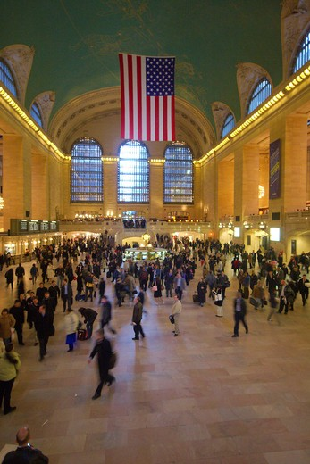 Massive hall inside Grand Central Station, midtown Manhattan, New York City : Stock Photo