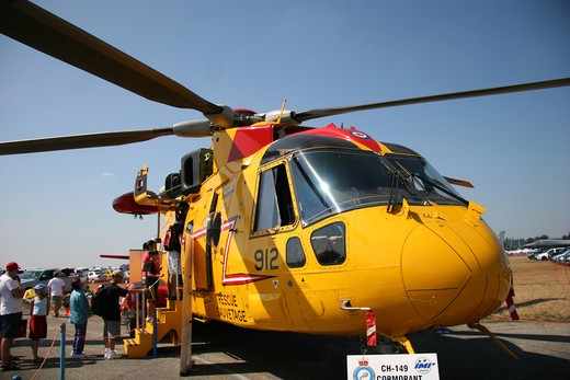 Stock Photo: 4286R-13356 CH-149 Cormorant Search and Rescue Helicopter at Abbotsford International Air Show 2006