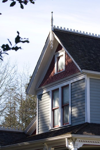 Stock Photo: 4286R-13767 Architectural details - Historic Stewart House at Elgin Heritage Park, near Crescent Beach, Surrey, BC, Canada