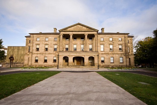 Province House, site of the founding of confederation in 1867, Charlottetown, Prince Edward Island, Canada : Stock Photo