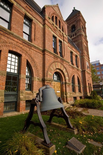 Stock Photo: 4286R-13985 Big Don bell in front of City Hall, Charlottetown, Prince Edward Island, Canada